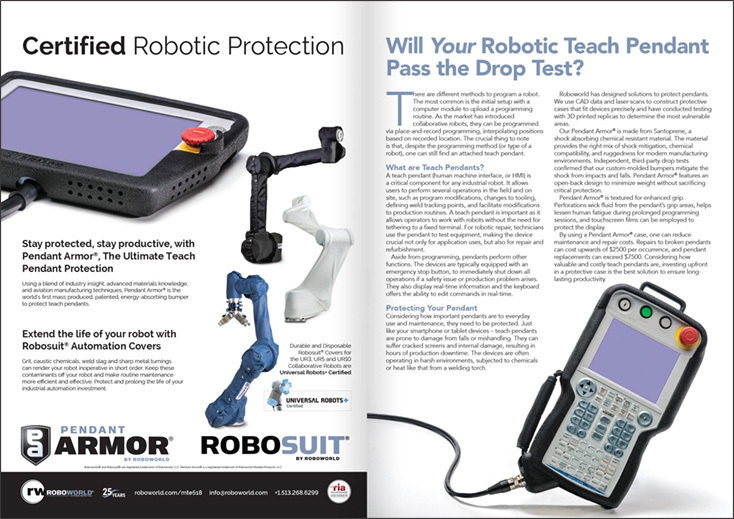 Roboworld Industrial Robot Protection case study ad