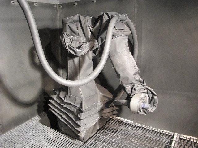FANUC M20iA Roboworld Blast Curtain Robosuit